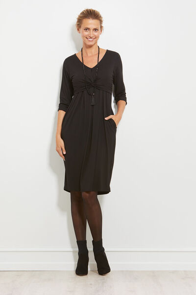 NYNNA DRESS, BLACK, hi-res