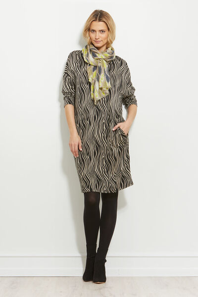 NOLENE DRESS, KHAKI, hi-res