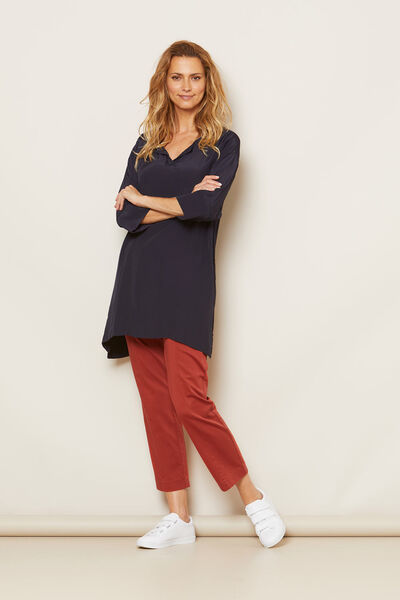 GUNHILD TUNIC, NAVY, hi-res