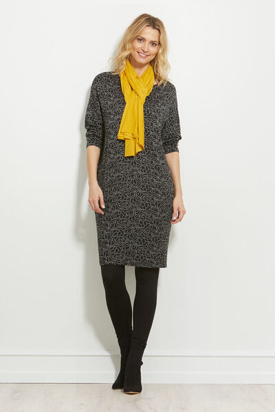 NOLENE DRESS, BLACK, hi-res