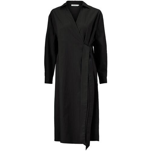 NESSA DRESS, Black, hi-res