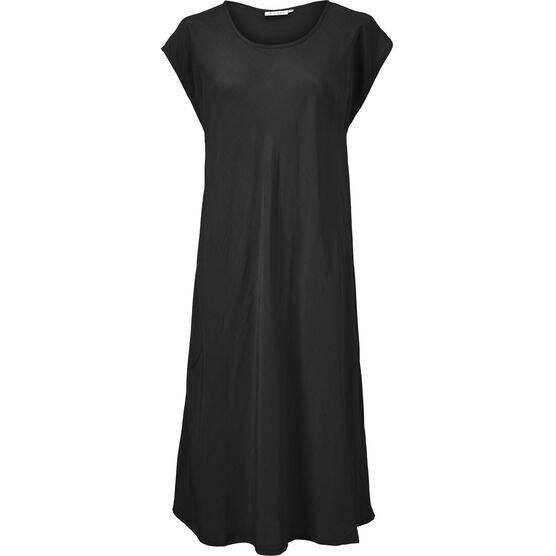 UNA DRESS, BLACK, hi-res