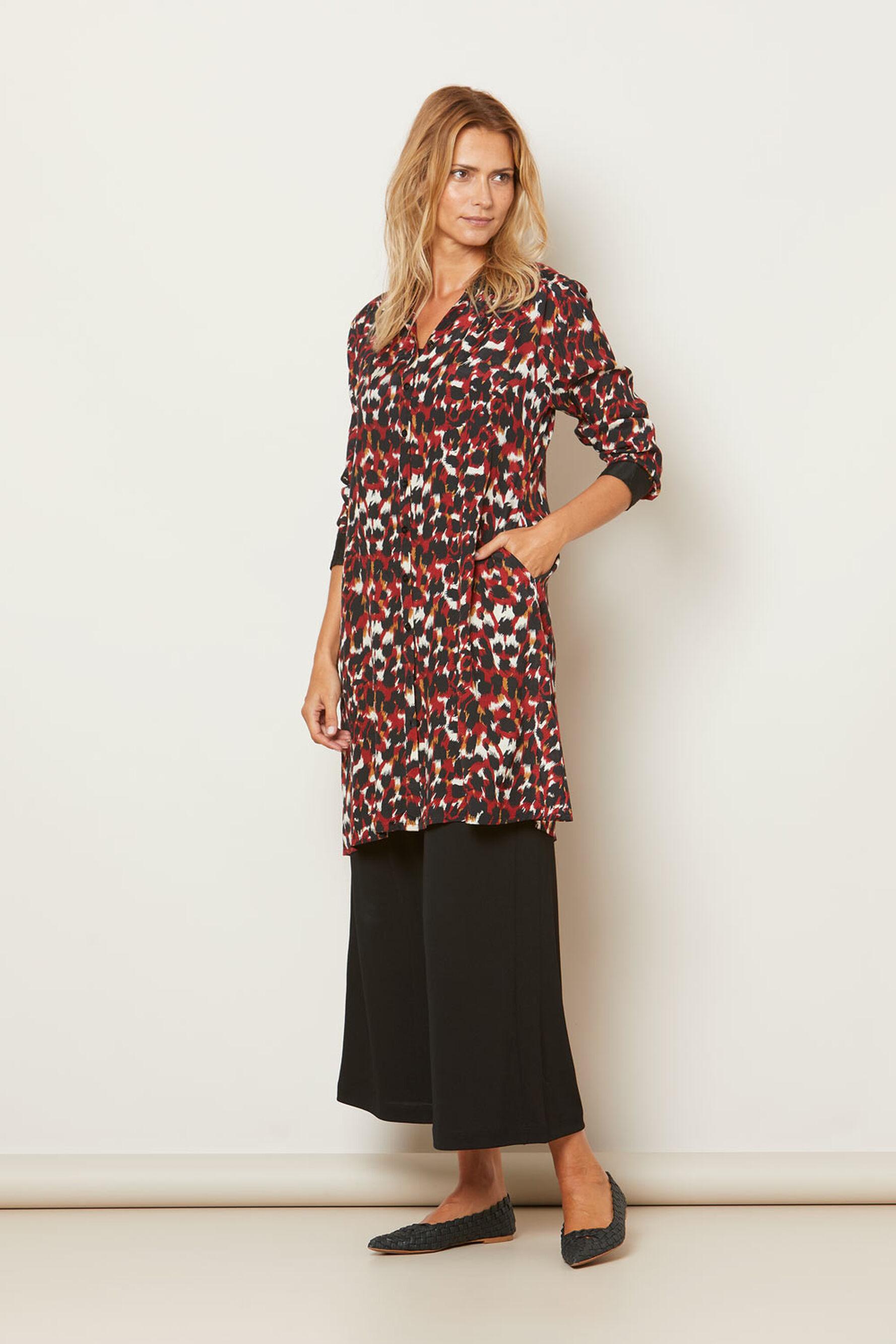 NININI SHIRT DRESS, RIO RED ORG, hi-res