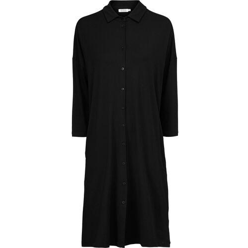 NITZI SHIRT DRESS, Black, hi-res