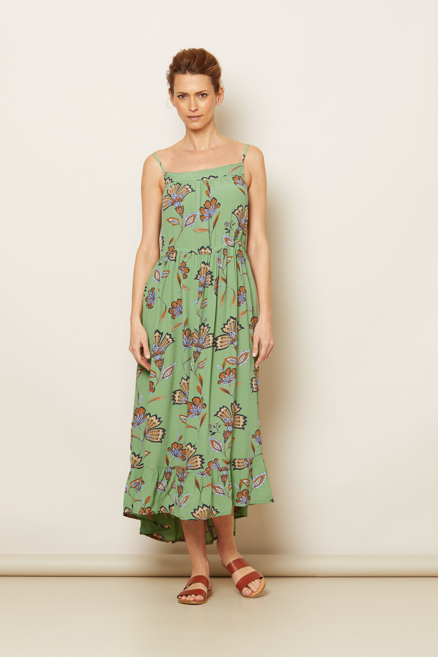 OLIVIA DRESS, Stone Green, hi-res
