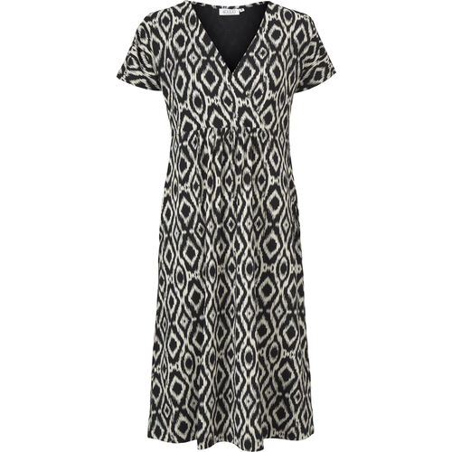 NARDI DRESS, BLACK ORG, hi-res