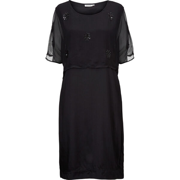 OZIA DRESS, BLACK, hi-res