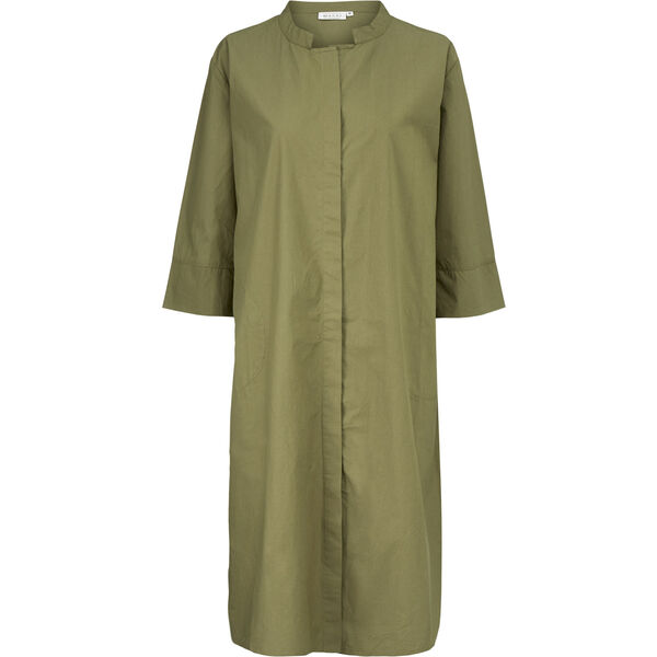 NIMES SHIRT DRESS, Burnt Olive, hi-res