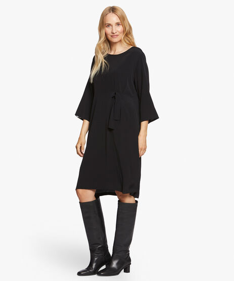 NONIE DRESS, Black, hi-res