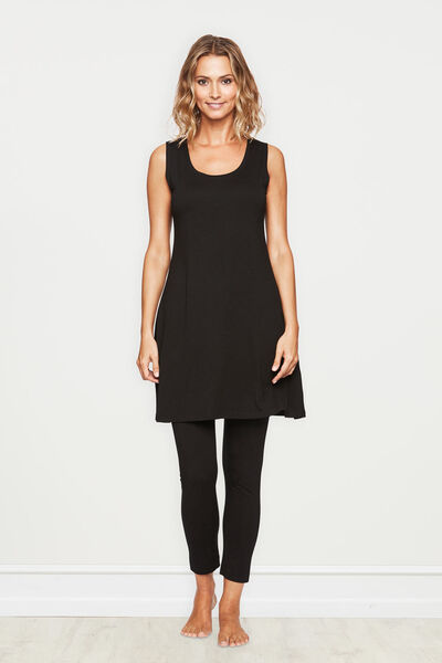 HEAT TUNIC, BLACK, hi-res