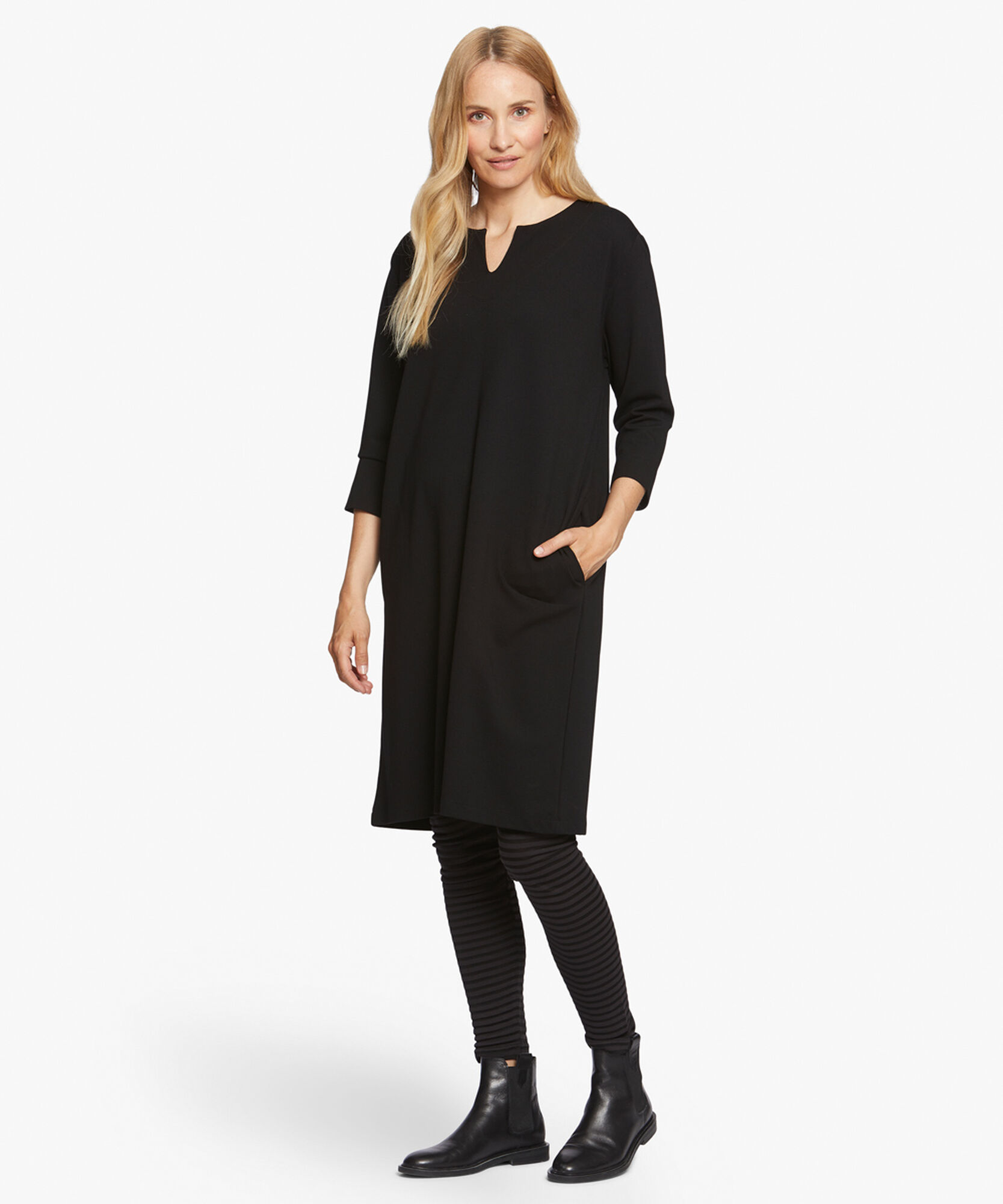 NIKINI DRESS, Black, hi-res