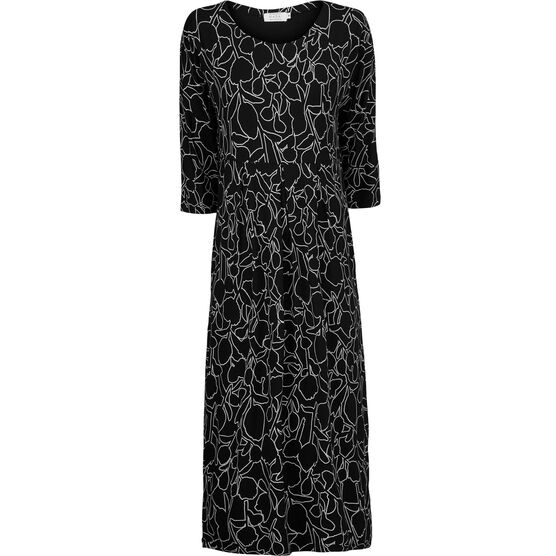 NIMA DRESS, Black, hi-res