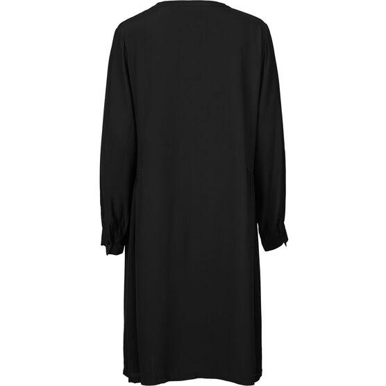 NELLY SHIRT DRESS, BLACK, hi-res
