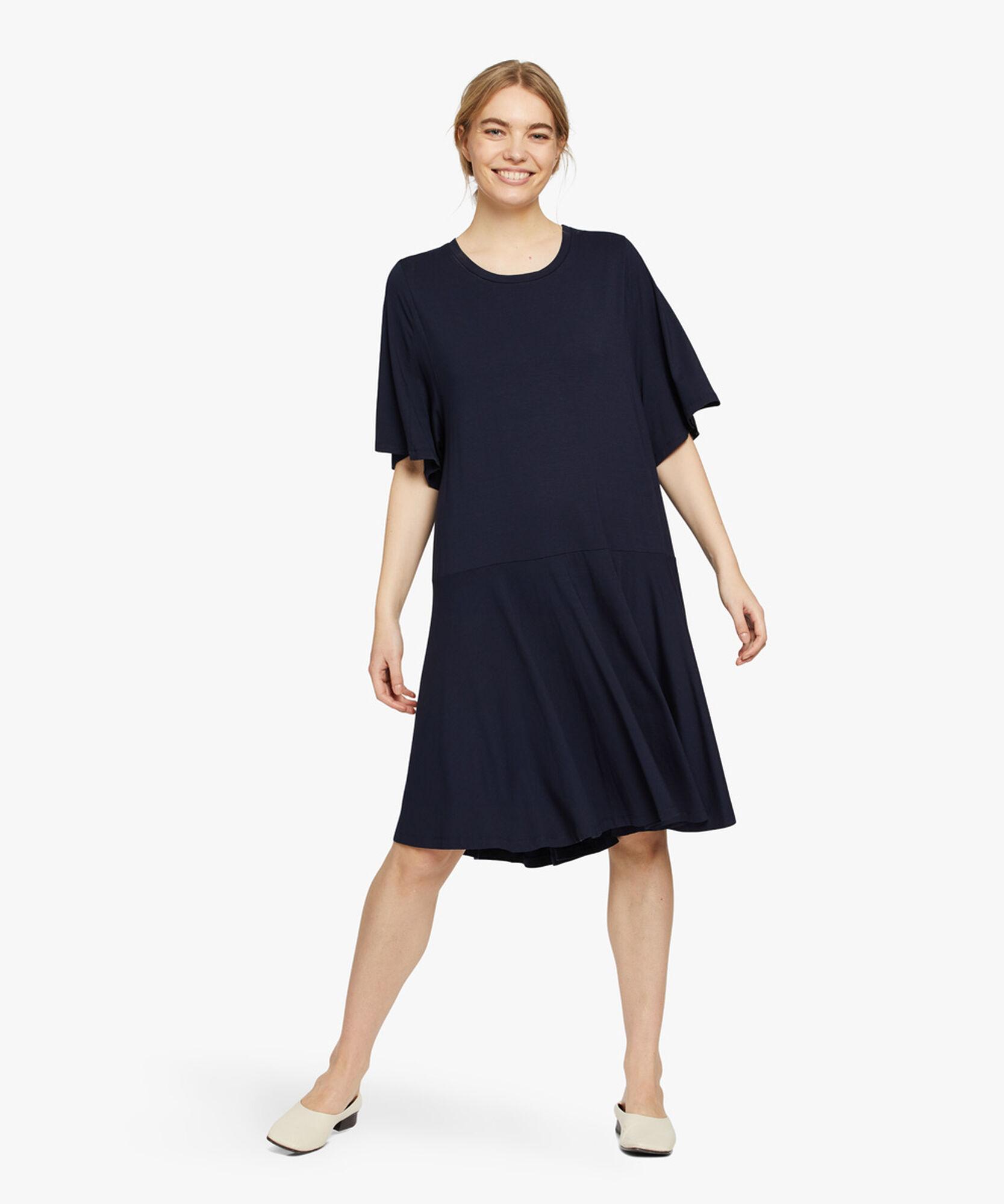 NESSANA DRESS, Navy, hi-res