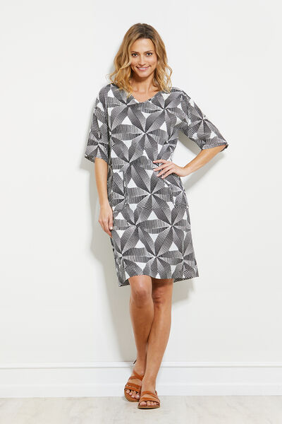 NEMA DRESS, BLACK, hi-res