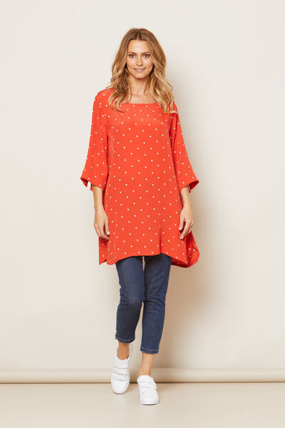 GLUSNA TUNIC, POMEGRANATE, hi-res