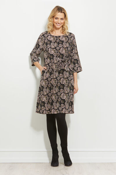 NONIE DRESS, OLIVE, hi-res